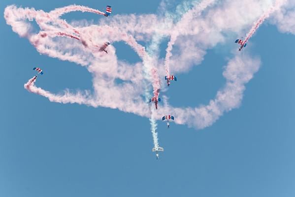 Display Team, RAF Falcons Parachute Display Team, Shoreham 2015