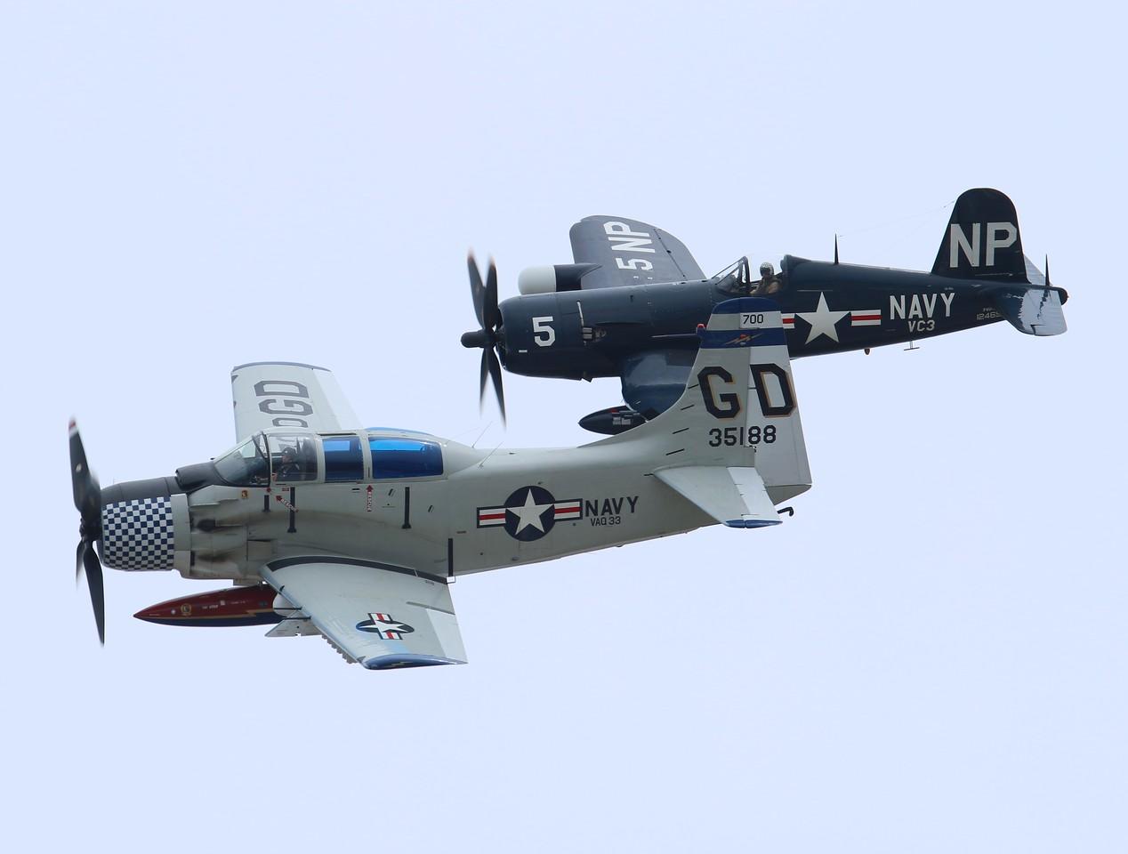 Skyraider & Corsair