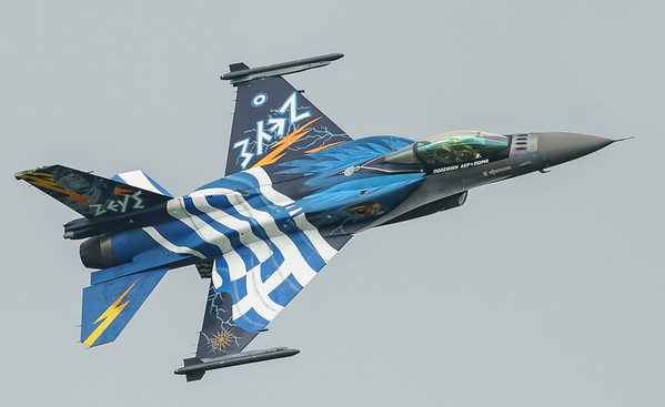 (Greek Air Force), 523, F-16 Fighting Falcon, F-16C Block 52+, Hellenic Air Force, Lockheed Martin, RIAT2016, Team Zeus, Viper (3.9Mp)