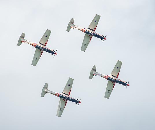 Croatian Air Force, Krila Oluje, PC-9M, Pilatus, RIAT2016, Swift, Wings of Storm (10.9Mp)