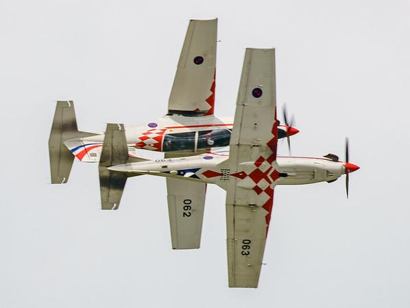 Croatian Air Force, Krila Oluje, PC-9M, Pilatus, RIAT2016, Swift, Wings of Storm (4.5Mp)