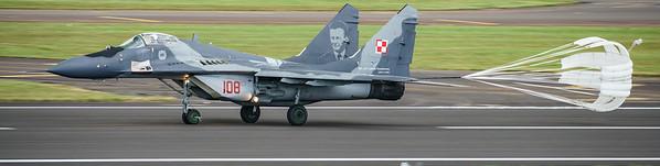 108, Fulcrum, Mig-29, Mikoyan-Gurevich, Polish Air Force, RIAT2016 (14.6Mp)