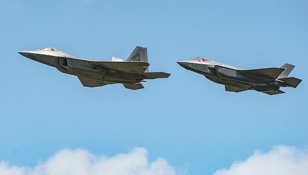 09-4191, 12-5052, F-22A, F-35, F-35A, Lightning II, Lockheed Martin, RIAT2016, Raptor, US Air Force (16.9Mp)