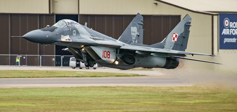 108, Fulcrum, Mig-29, Mikoyan-Gurevich, Polish Air Force, RIAT2016 (12.9Mp)