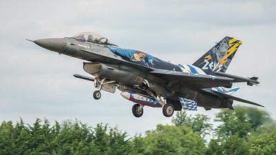 (Greek Air Force), 523, F-16 Fighting Falcon, F-16C Block 52+, Hellenic Air Force, Lockheed Martin, RIAT2016, Viper (22.9Mp)
