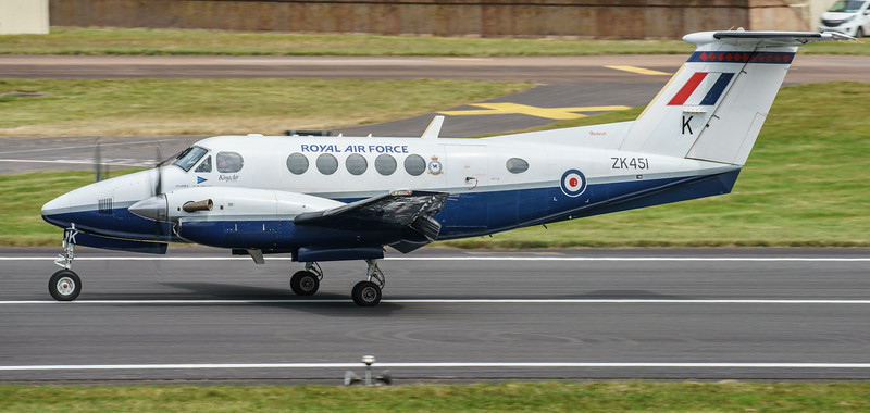 Beechcraft, King Air B200GT, RAF, RIAT2016, Royal Air Force, ZK451, k (22.2Mp)