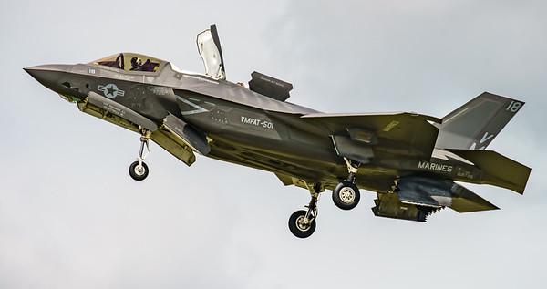 168726, F-35, F-35B, Lightning II, Lockheed Martin, RIAT2016, US Marine Corps, VM-18 (11.3Mp)