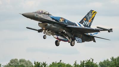 (Greek Air Force), 523, F-16 Fighting Falcon, F-16C Block 52+, Hellenic Air Force, Lockheed Martin, RIAT2016, Viper (14.7Mp)