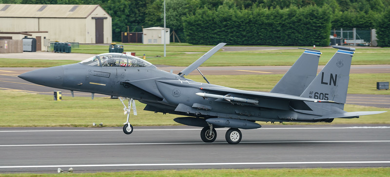 91-0605, F-15E, McDonnell Douglas, RIAT2016, Strike Eagle, USAFE, United States Air Forces in Europe (24.4Mp)