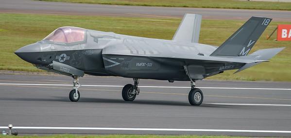 168726, F-35, F-35B, Lightning II, Lockheed Martin, RIAT2016, Refueling demo, US Marine Corps, VM-18 (15.0Mp)