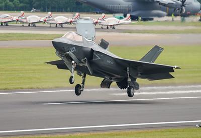 168726, F-35, F-35B, Lightning II, Lockheed Martin, RIAT2016, Refueling demo, US Marine Corps, VM-18 (9.8Mp)