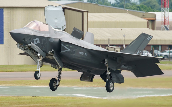 168726, F-35, F-35B, Lightning II, Lockheed Martin, RIAT2016, Refueling demo, US Marine Corps, VM-18 (7.6Mp)