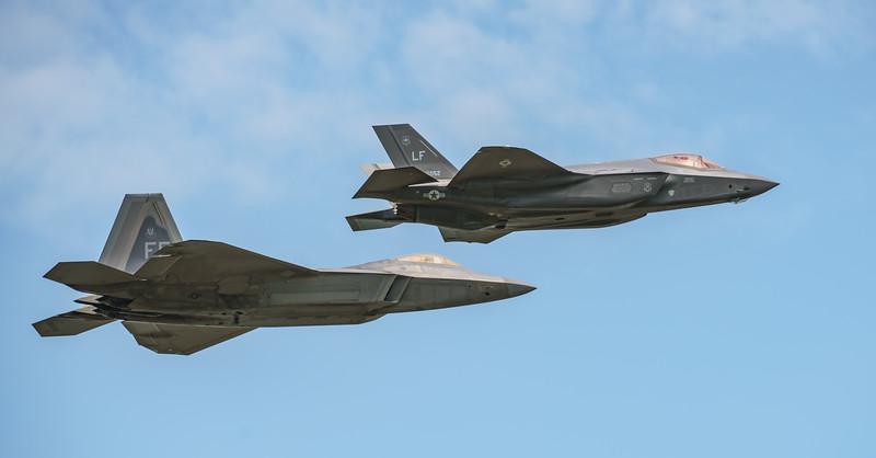 09-4191, 12-5052, F-22A, F-35, F-35A, Lightning II, Lockheed Martin, RIAT2016, Raptor, US Air Force (24.2Mp)