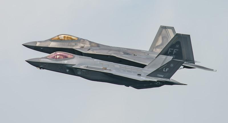 09-4191, 12-5052, F-22A, F-35, F-35A, Lightning II, Lockheed Martin, RIAT2016, Raptor, US Air Force (4.4Mp)