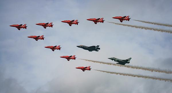 168727, BAe, British Aerospace, Eurofighter, F-35, F-35B, FL, Hawk T1, Lightning II, Lockheed Martin, RAF, RIAT2016, Red Arrows, Red Arrows + Guest Red11, Royal Air Force, Typhoon FGR.4, US Marine Cor (34.4Mp)