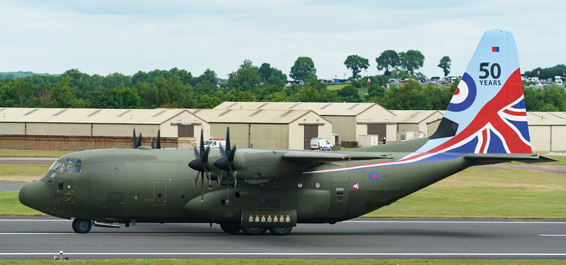 50 years scheme, C-130J, C.5, C130, Hercules, Lockheed, RAF, RIAT2016, Royal Air Force, ZH883 (25.8Mp)