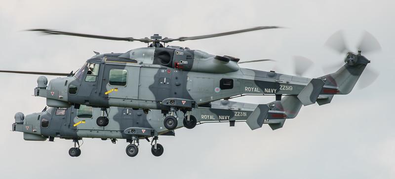 Agusta-Westland, Black Cats, HMA2, RIAT2016, Royal Navy, Wildcat, ZZ381, ZZ519 (12.5Mp)