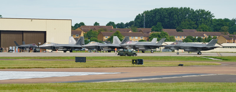 09-4181, 09-4191, F-22A, F-35, F-35A, F-35B, Lightning II, Lockheed Martin, RAF, RIAT2016, Raptor, Royal Air Force, US Air Force, US Marine Corps, ZM137 (24.5Mp)