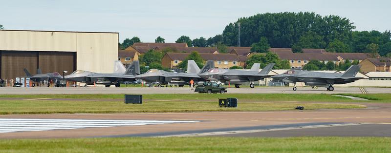 09-4181, 09-4191, F-22A, F-35, F-35A, F-35B, Lightning II, Lockheed Martin, RAF, RIAT2016, Raptor, Royal Air Force, US Air Force, US Marine Corps, ZM137 (24.5Mp)