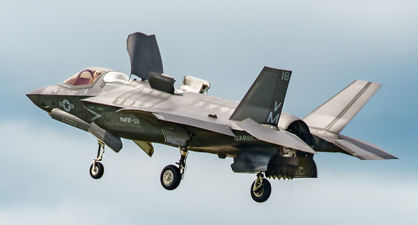 168726, F-35, F-35B, Lightning II, Lockheed Martin, RIAT2016, US Marine Corps, VM-18 (4.4Mp)