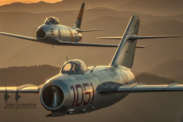MiG-15 and Sabre