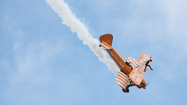 AeroSuperBatics, Biggin Hill, Boeing, Breitling Wingwalkers, Festival of Flight 2017, Kaydet, N74189, No2, PT-17, Stearman; London Biggin Hill Airport,Biggin Hill,London,England