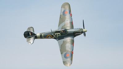 BE505, Hangar 11 Collection, Hawker, Hurri Bomber, Hurricane, Hurricane Mk.IIb, Peter Teichman, Wings, Wings and Wheels 2017; Dunsfold Aerodrome,Waverley District,Surrey,England