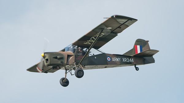 AOP Mk9, Army Air Corps, Auster Aircraft Ltd., G-CICR, Historic Aircraft Flight, Wings, Wings and Wheels 2017, XR244; Dunsfold Aerodrome,Waverley District,Surrey,England