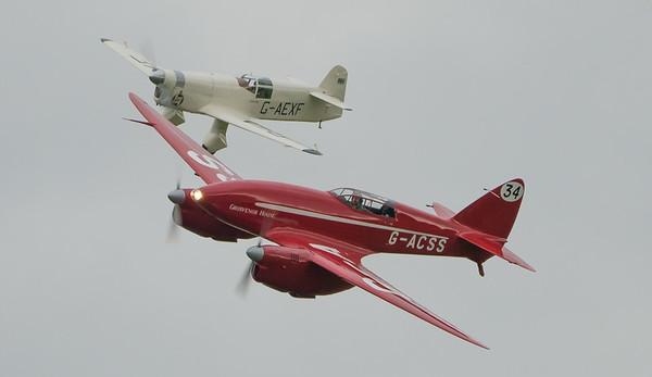 34, Comet, DH88, De Havilland, E.2H, G-ACSS, G-AEXF, Grosvenor House, Mew Gull, Percival, Shuttleworth Heritage Day; Old Warden Aerodrome,Bedford,Central Bedfordshire,England