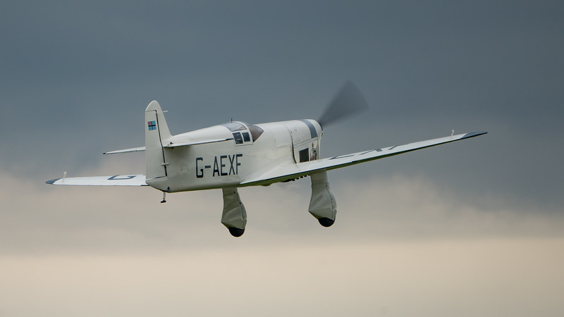 E.2H, G-AEXF, Mew Gull, Percival, Shuttleworth Heritage Day; Old Warden Aerodrome,Bedford,Central Bedfordshire,England