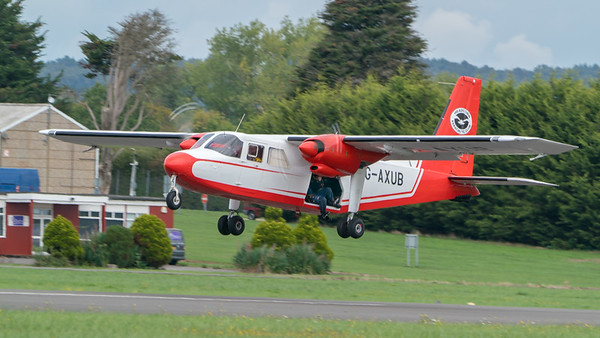 Britten-Norman BN-2A Islander, Dunsfold, The Tigers Army Parachute Display Team, Wings, Wings and Wheels - 25/08/2018:13:14