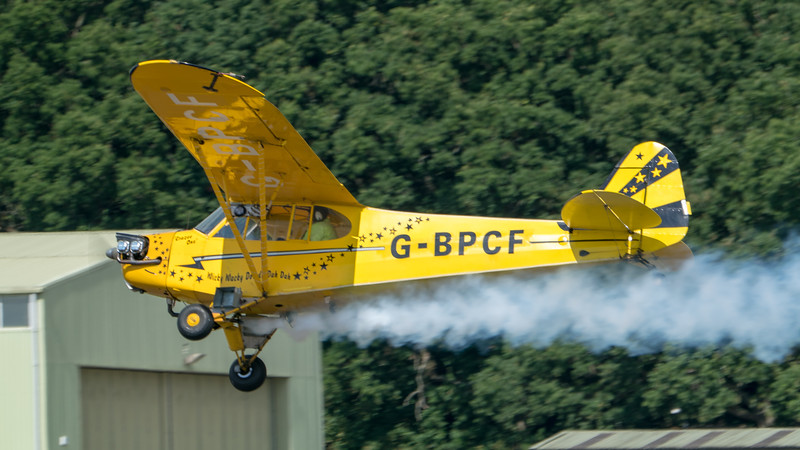 Dunsfold, G-BPCF, O'Brien's Flying Circus, Piper J-3 Cub, Wings, Wings and Wheels - 25/08/2018:11:58