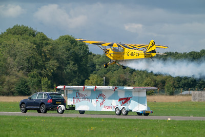 Dunsfold, G-BPCF, O'Brien's Flying Circus, Piper J-3 Cub, Wings, Wings and Wheels - 25/08/2018:12:00
