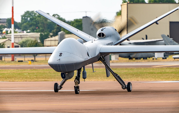General Atomics, MQ-9B, N190TC, RAF Fairford, RIAT 2018, SkyGuardian, unmanned aerial vehicle - 11/07/2018:18:54