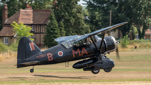 Family Airshow 2018, Flying Display, Old Warden, Shuttleworth - 05/08/2018:13:47
