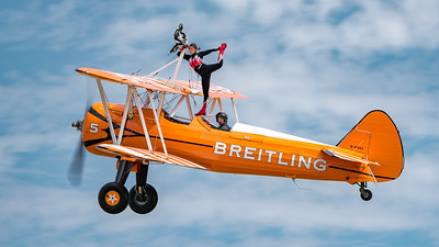 Family Airshow 2018, Flying Display, Old Warden, Shuttleworth - 05/08/2018:14:28