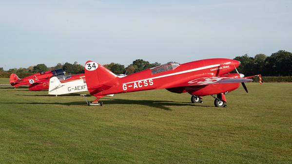 Shuttleworth, Aircraft-> de Havilland-> DH.88 Comet-> G-ACSS (Grosvenor House), Old Warden-> Race Day 2018, Old Warden-> Arrival - 07/10/2018@09:42
