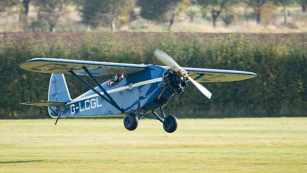 Swift2  -> replica  bold  normal :Shuttleworth, Aircraft-> Comper-> C.L.A.7 SWIFT-> G-LCGL, Old Warden-> Race Day 2018, Old Warden-> Arrival - 07/10/2018@09:28