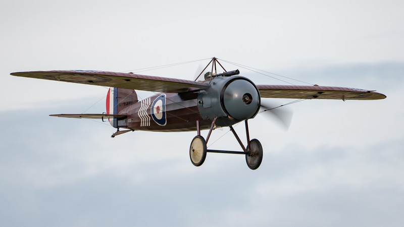 Shuttleworth, Old Warden-> Race Day 2018-> Display-> WW1 Racers, Aircraft-> Bristol Aeroplane Company-> M.1C-> C4918 - 07/10/2018@16:27