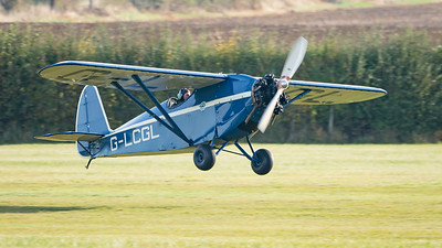Shuttleworth, Aircraft-> Comper-> C.L.A.7 SWIFT-> G-LCGL, Old Warden-> Race Day 2018, Old Warden-> Arrival - 07/10/2018@09:28
