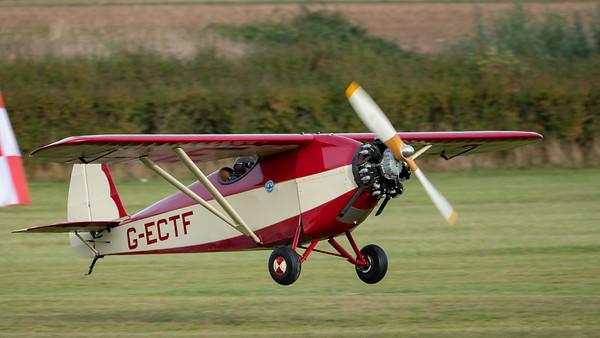Shuttleworth, Old Warden-> Race Day 2018-> Display-> Comper Trio (Duo), Aircraft-> Comper-> C.L.A.7 SWIFT-> G-ECTF (replica) - 07/10/2018@16:13