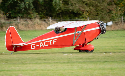 Shuttleworth, Old Warden-> Race Day 2018-> Display-> Comper Trio (Duo), Aircraft-> Comper-> C.L.A.7 SWIFT-> G-ACTF - 07/10/2018@16:14