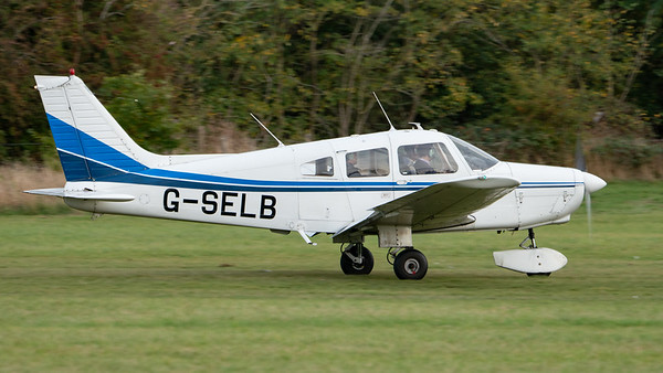 Shuttleworth, Aircraft-> Piper-> PA-28-161 Warrior II-> G-SELB, Old Warden-> Race Day 2018-> Departures - 07/10/2018@16:40