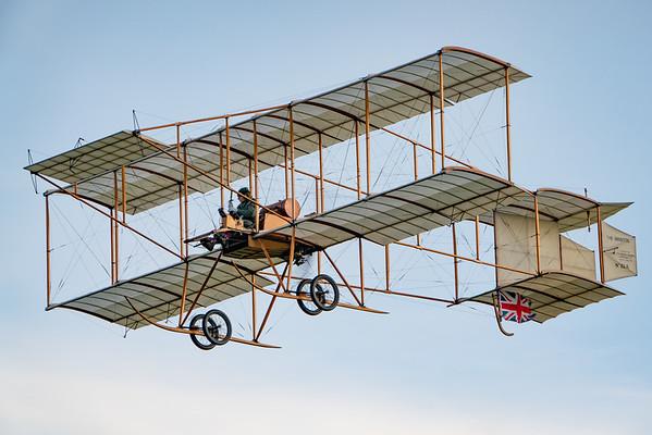 Old Warden-> Race Day 2018-> Display-> Edwardians, Aircraft-> Bristol Aeroplane Company-> Boxkite - 1910 (Replica), Shuttleworth - 07/10/2018@17:42