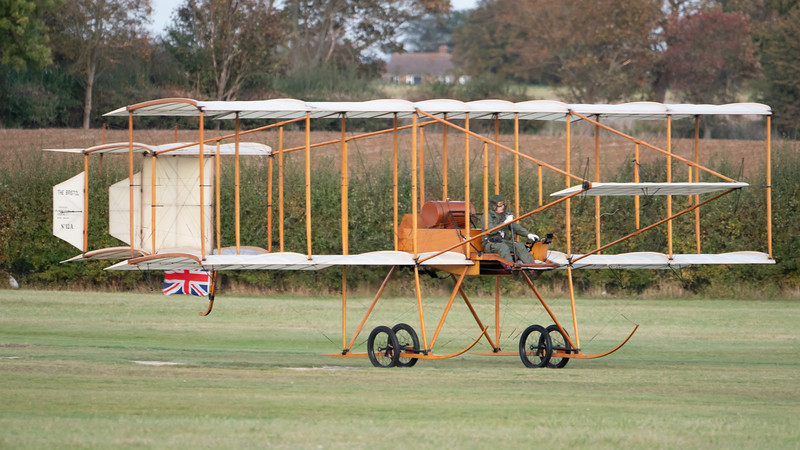 Old Warden-> Race Day 2018-> Display-> Edwardians, Aircraft-> Bristol Aeroplane Company-> Boxkite - 1910 (Replica), Shuttleworth - 07/10/2018@17:40