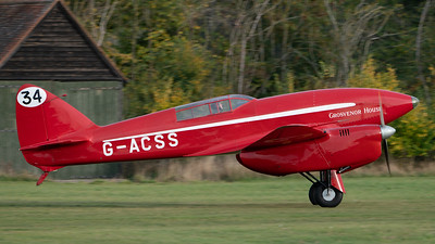 Old Warden-> Race Day 2018-> Display-> Famous Racers, Aircraft-> de Havilland-> DH.88 Comet-> G-ACSS (Grosvenor House), Shuttleworth - 07/10/2018@16:59