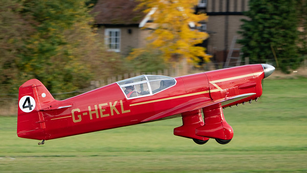 Old Warden-> Race Day 2018-> Display-> Famous Racers, Aircraft-> Percival-> Mew Gull-> G-HEKL (replica), Shuttleworth - 07/10/2018@17:10