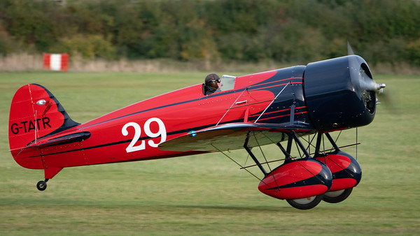 Old Warden-> Race Day 2018-> Display-> Famous Racers, Aircraft-> Travel Air-> Type R Mystery Ship-> G-TATR (replica), Shuttleworth - 07/10/2018@17:11