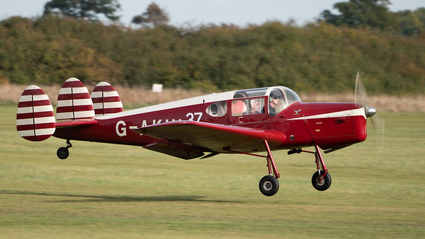 Shuttleworth, Old Warden-> Race Day 2018-> Display-> Mock Air Race 2, Aircraft-> Miles-> M38 Messenger 2A-> G-AKIN - 07/10/2018@15:06