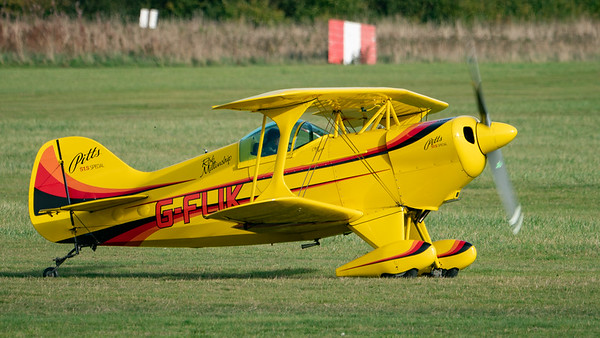 Shuttleworth, Old Warden-> Race Day 2018-> Display-> Pitts Race, Aircraft-> Pitts-> S-1S Special-> G-FLIK - 07/10/2018@15:30